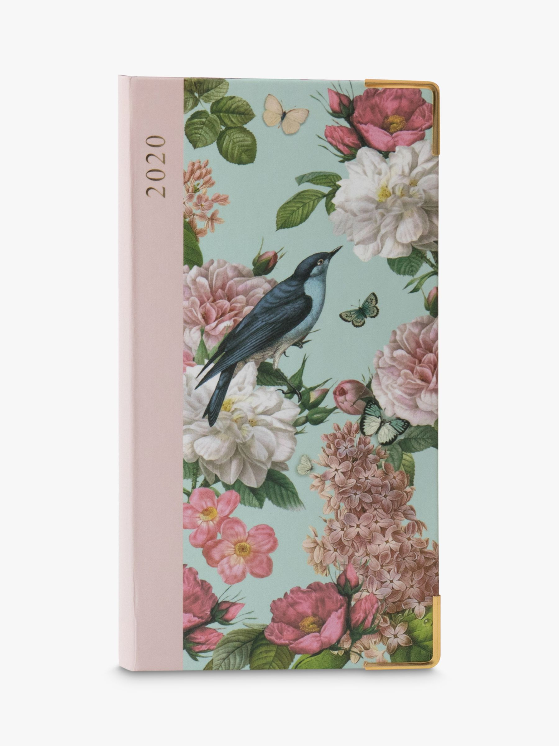 Portico Portico Hardback Floral & Bird Slim Diary 2020