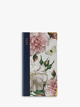 Portico Hardback Floral & Butterfly Slim Diary 2020