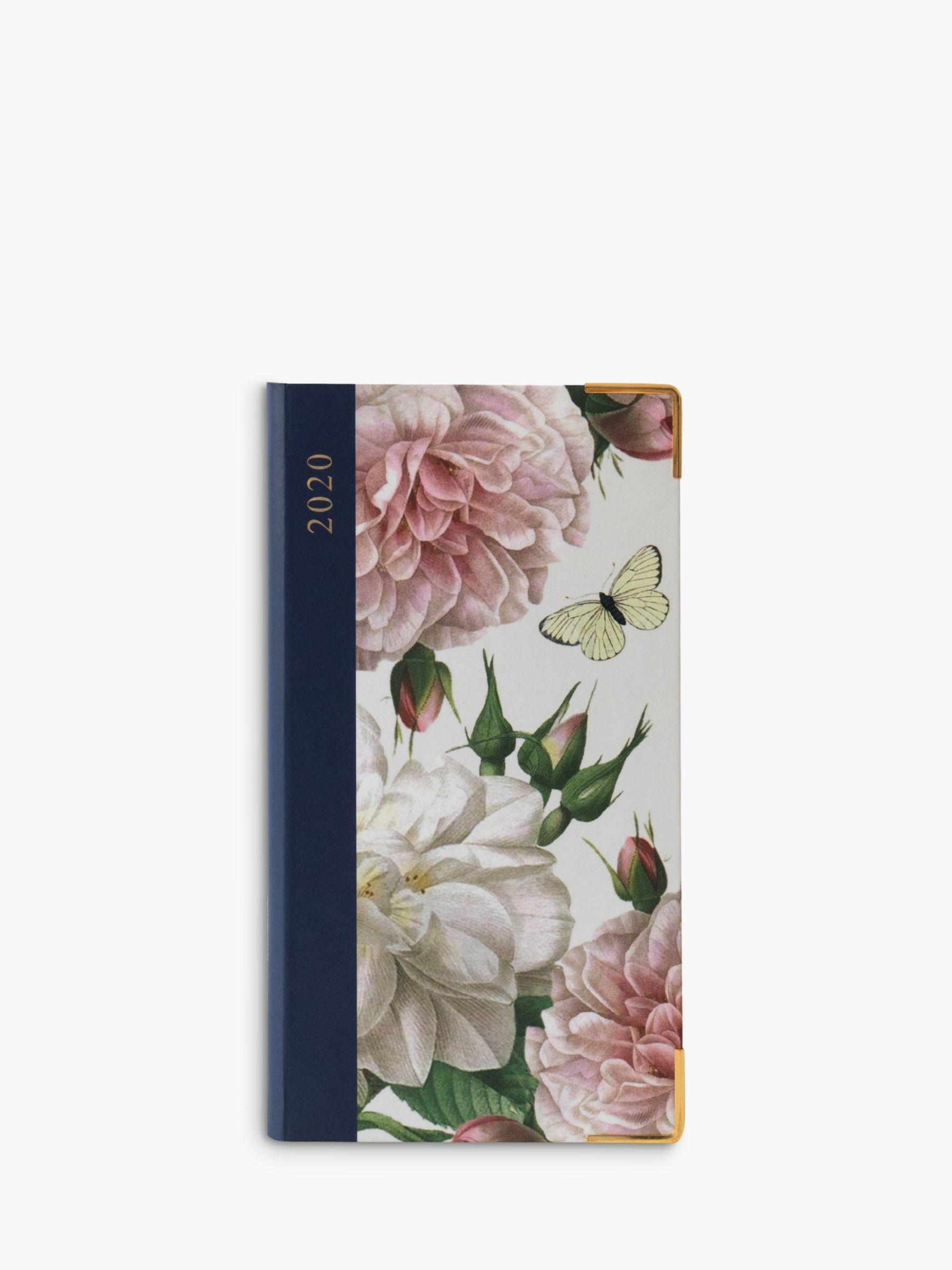 Portico Portico Hardback Floral & Butterfly Slim Diary 2020
