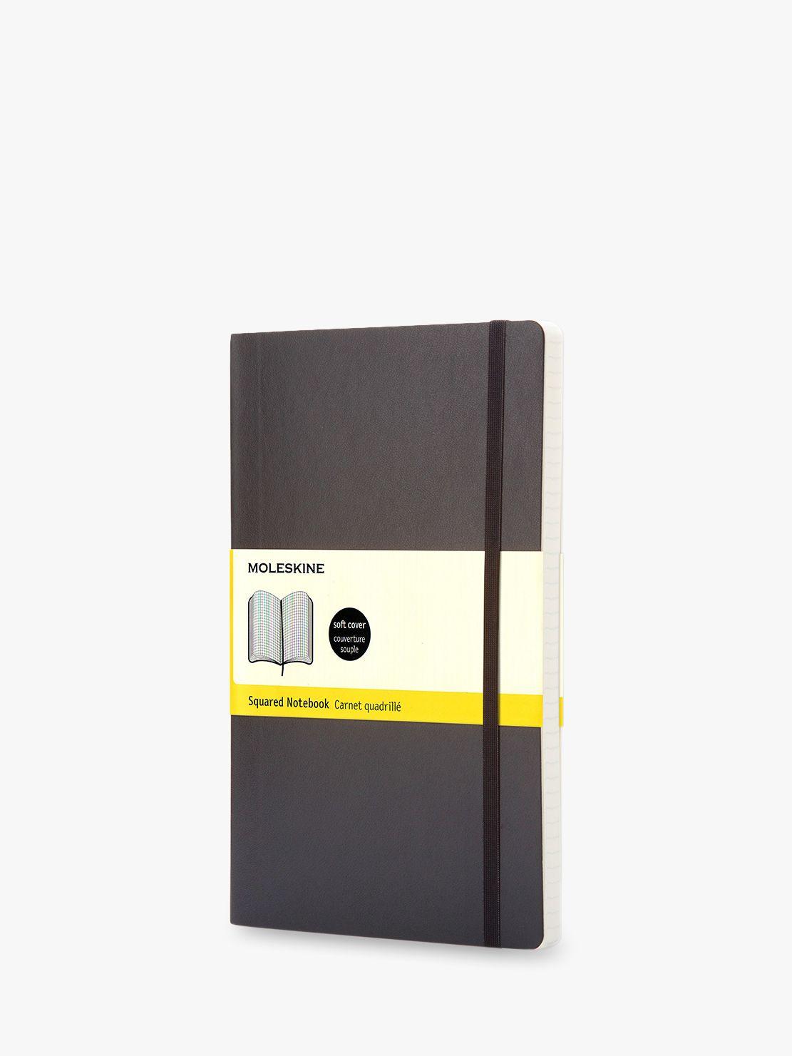 Moleskine Moleskine Large Soft Squared Notebook, Black