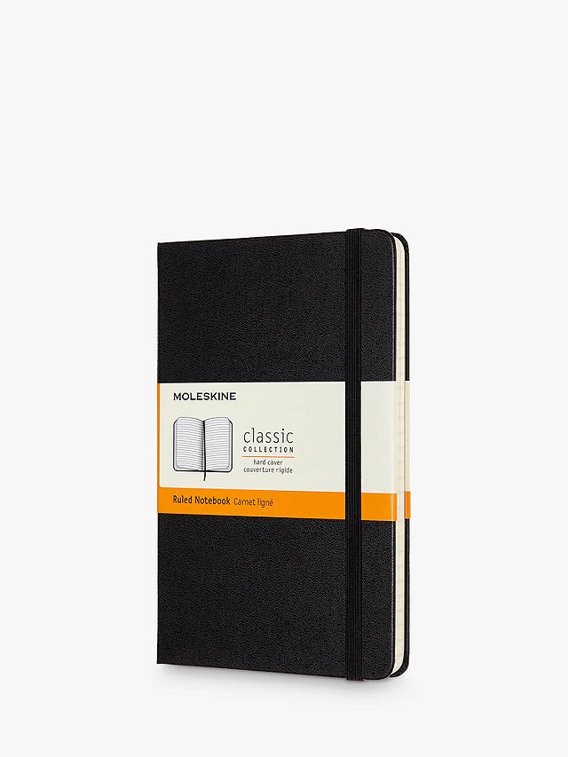 Buy Moleskine Medium Hardcover Ruled Notebook, Black Online at johnlewis.com