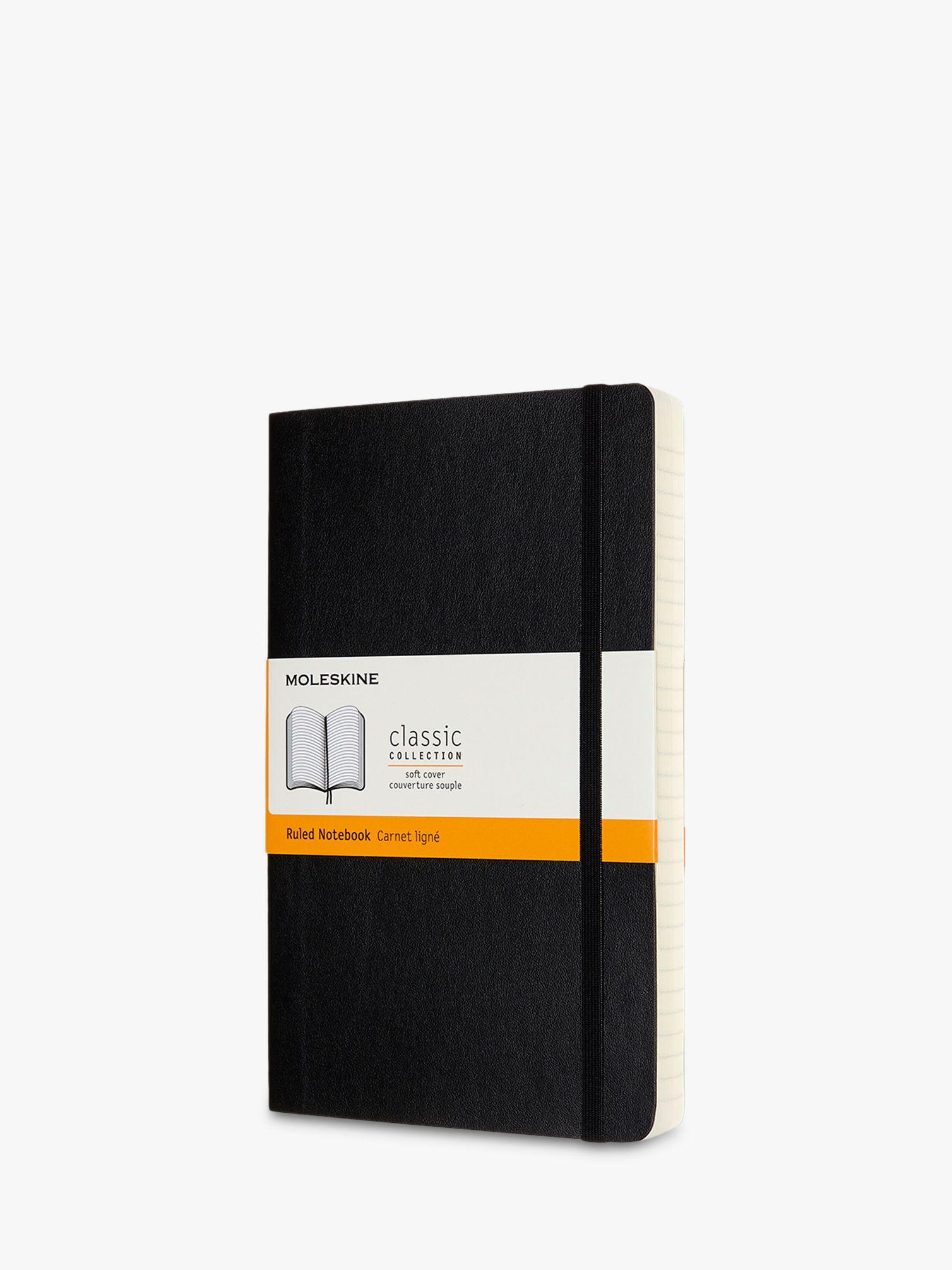 Moleskine Moleskine Large Expanded Soft Cover Ruled Notebook, Black