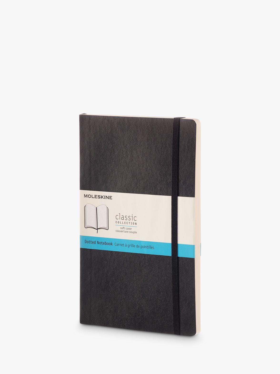 Moleskine Moleskine Large Soft Cover Dotted Notebook, Black