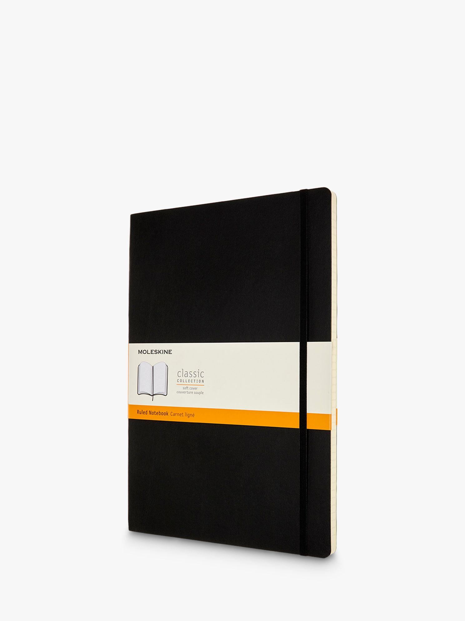 Moleskine Moleskine A4 Soft Cover Ruled Notebook, Black