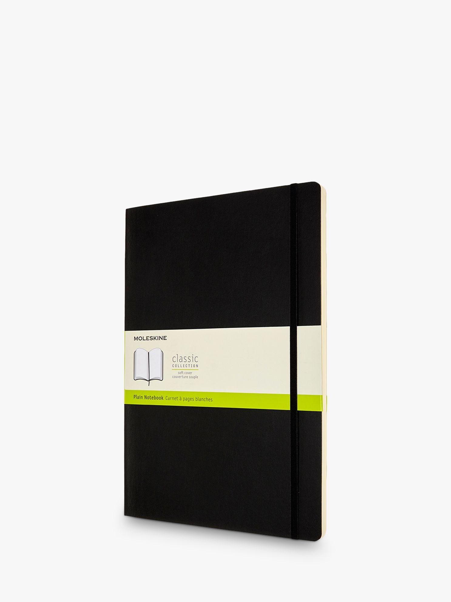 Moleskine Moleskine A4 Plain Soft Cover Notebook, Black