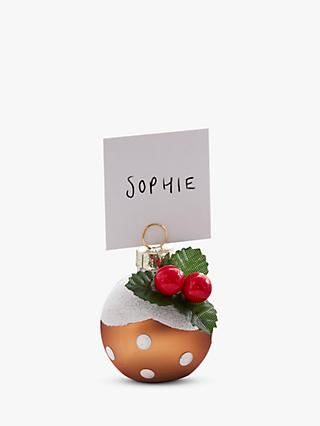 Ginger Ray Christmas Pudding Place Card Holders, Pack of 6
