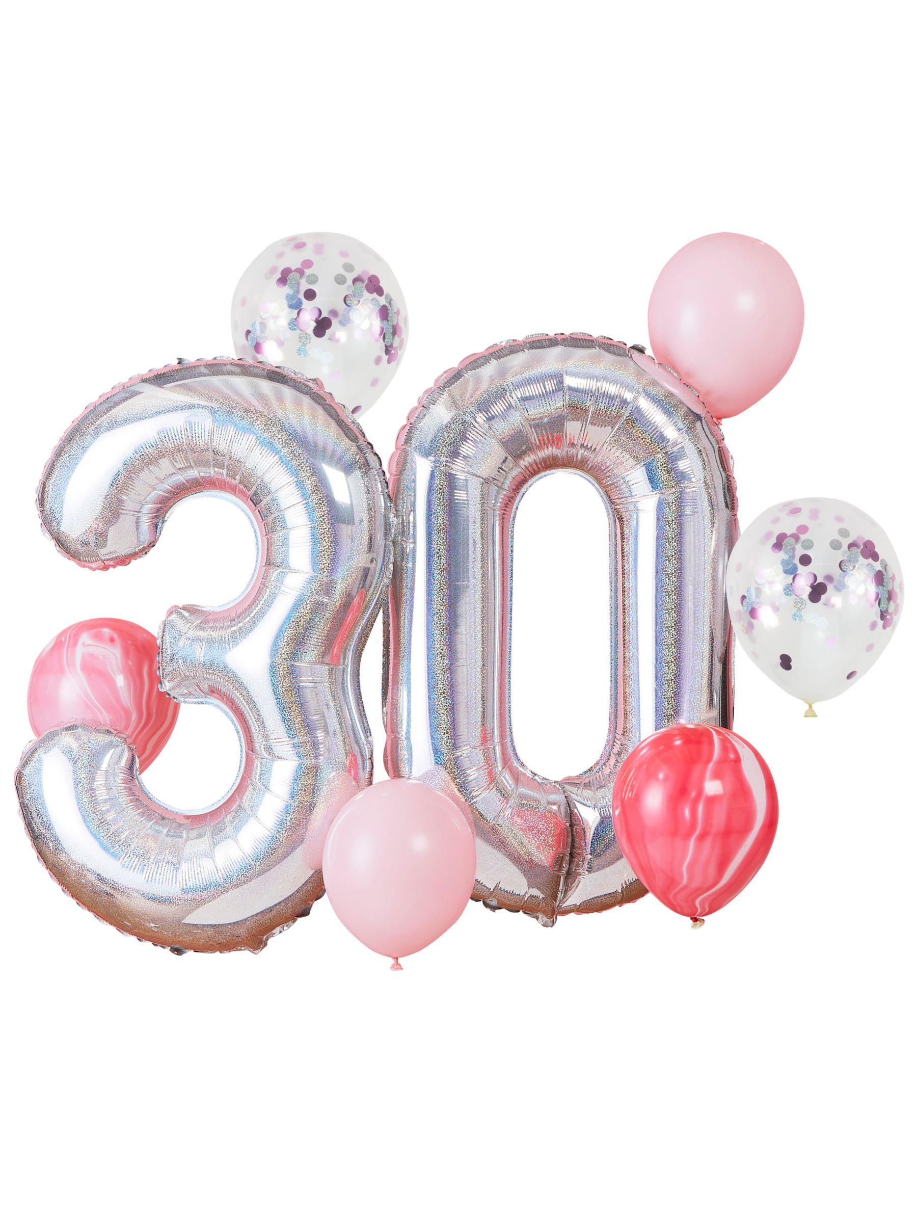 Ginger Ray Ginger Ray 30th Birthday Balloon Bundle