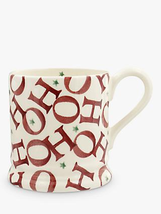 Emma Bridgewater Joy Ho Ho Ho Half Pint Mug, White/Red, 284ml