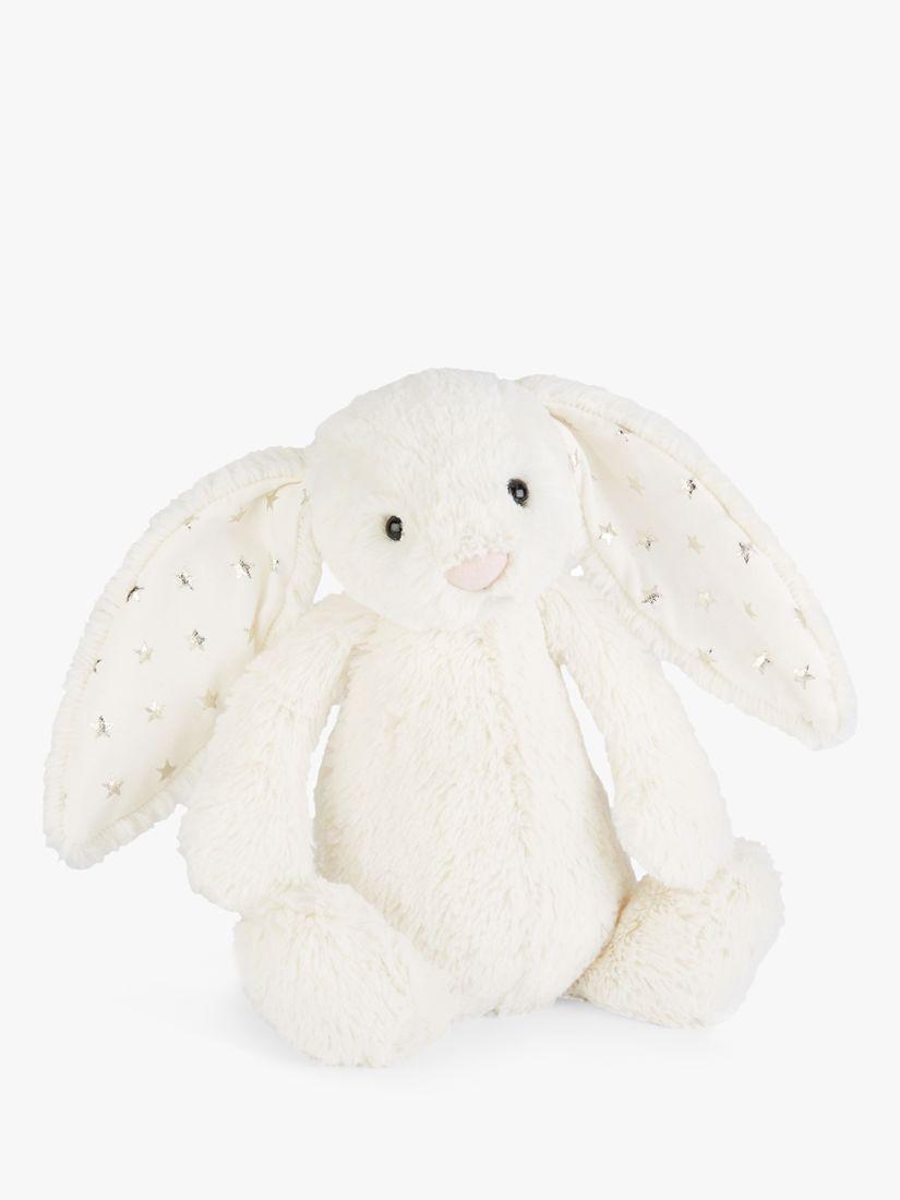 Jellycat Jellycat Bashful Bunny Soft Toy, Medium, White Twinkle