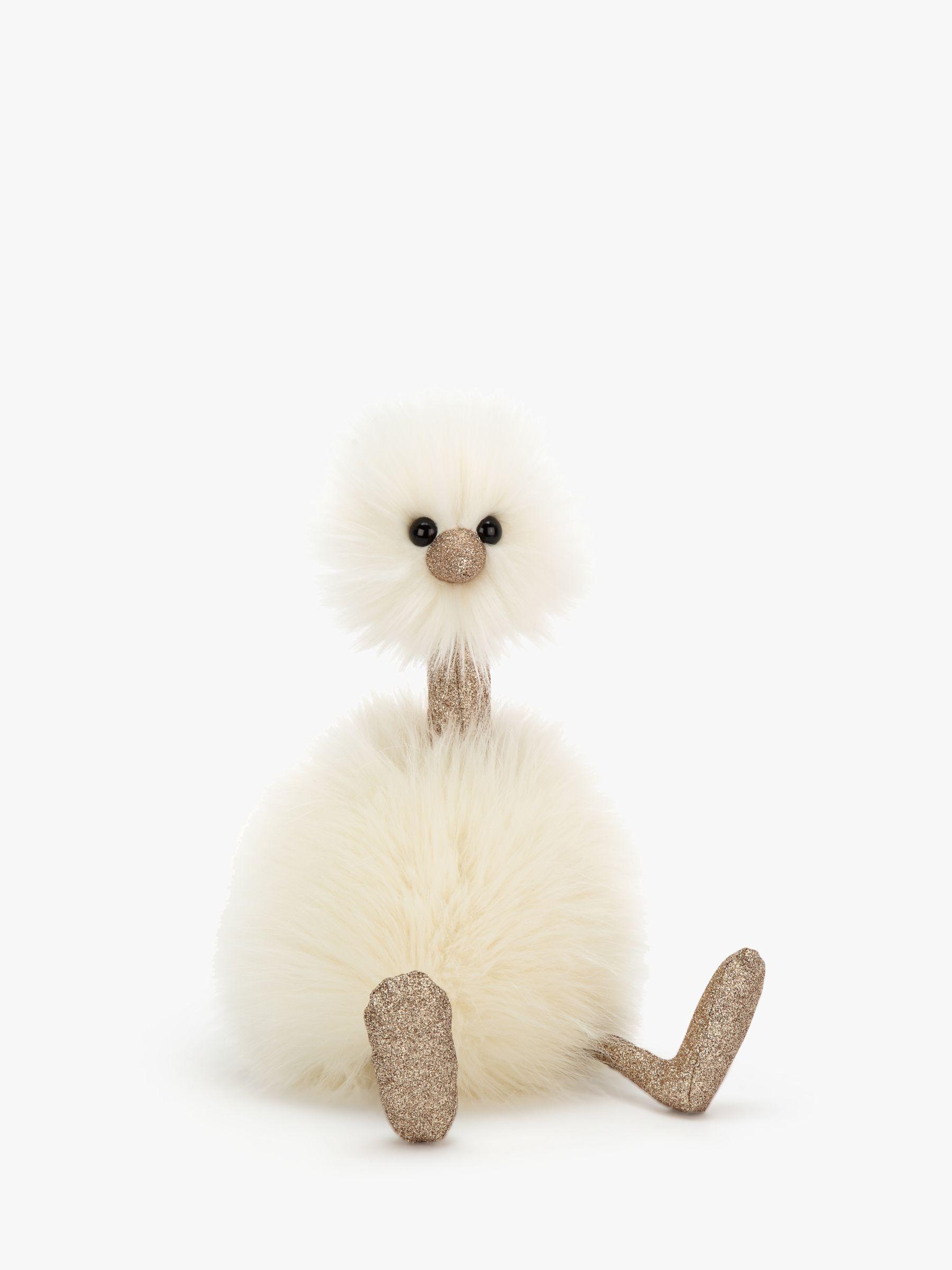 Jellycat Jellycat Pompom Glimmer Bird Soft Toy, Medium, Neutral