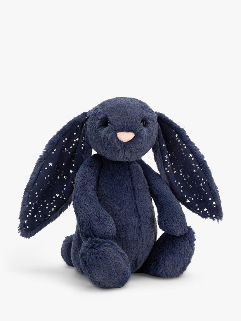 Jellycat Jellycat Bashful Bunny Soft Toy, Medium, Blue Stardust
