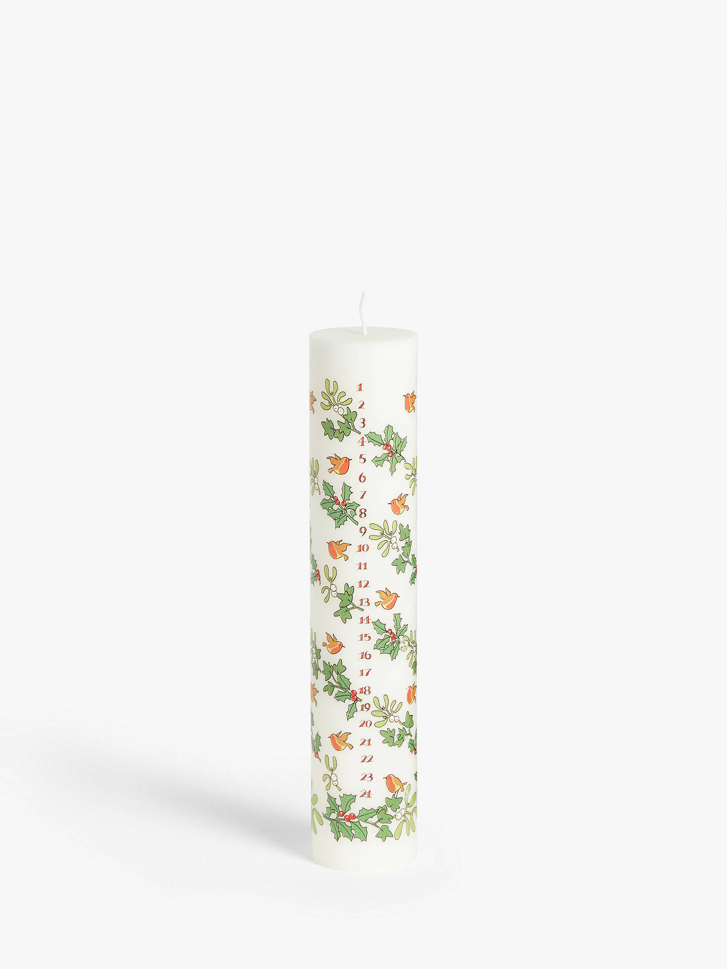 Buy Alison Gardiner Holly & Ivy Advent Pillar Candle Online at johnlewis.com