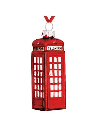 John Lewis & Partners Tourism Telephone Box Bauble