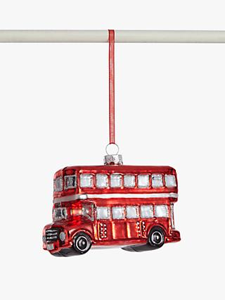 John Lewis & Partners Tourism London Bus Bauble