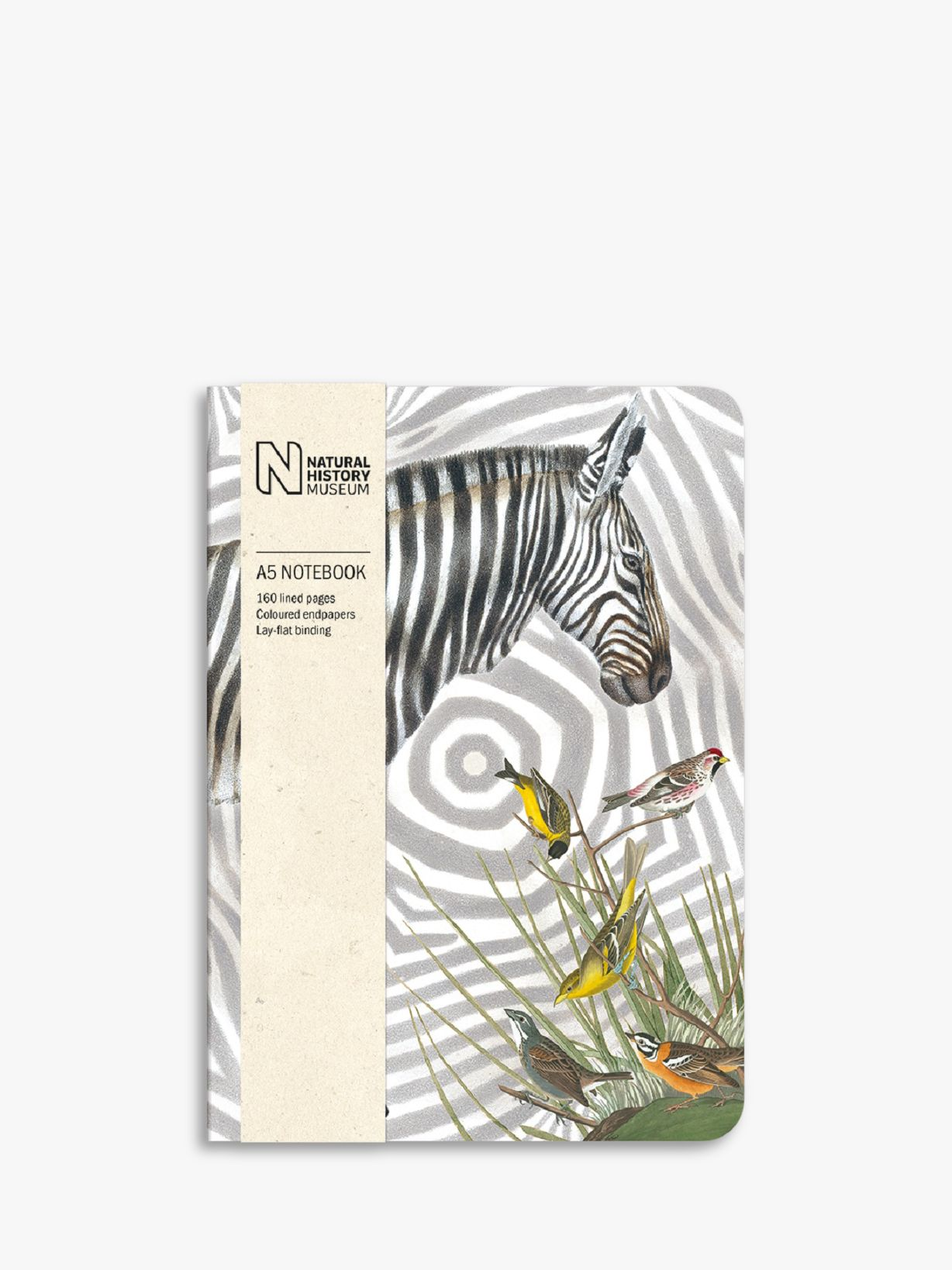 Museums & Galleries Museums & Galleries Natural History Museum A5 Zebra Notebook