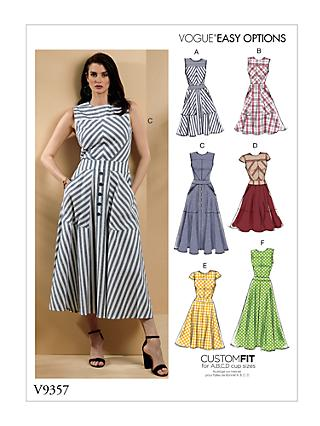 Vogue Easy Options Women's Dress Sewing Pattern, 9357