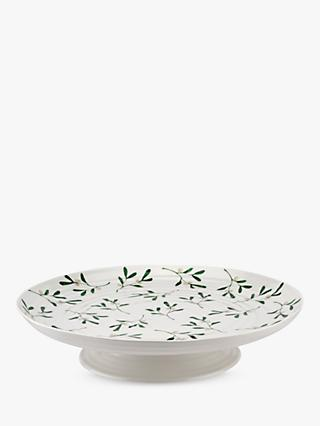 Sophie Conran for Portmeirion Mistletoe Cake Stand, 31.5cm, White/Multi