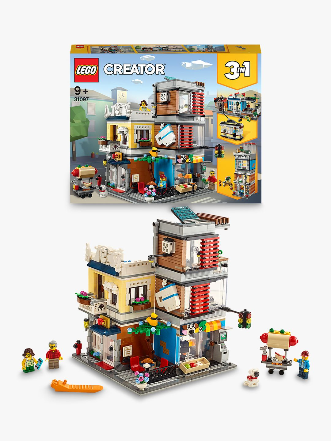 Buy LEGO Creator 31097 3-in-1 Townhouse Pet Shop & Café Online at johnlewis.com