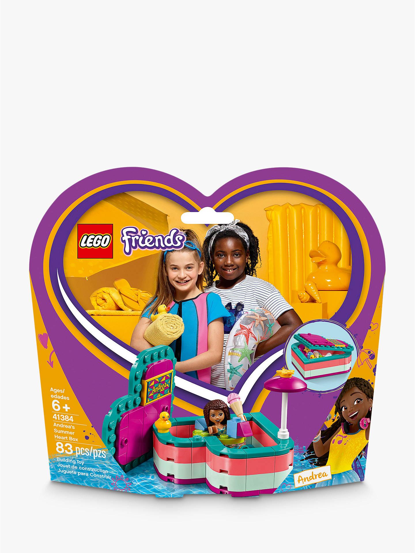 LEGO Friends 41384 Andrea's Summer Heart Box at John Lewis ...