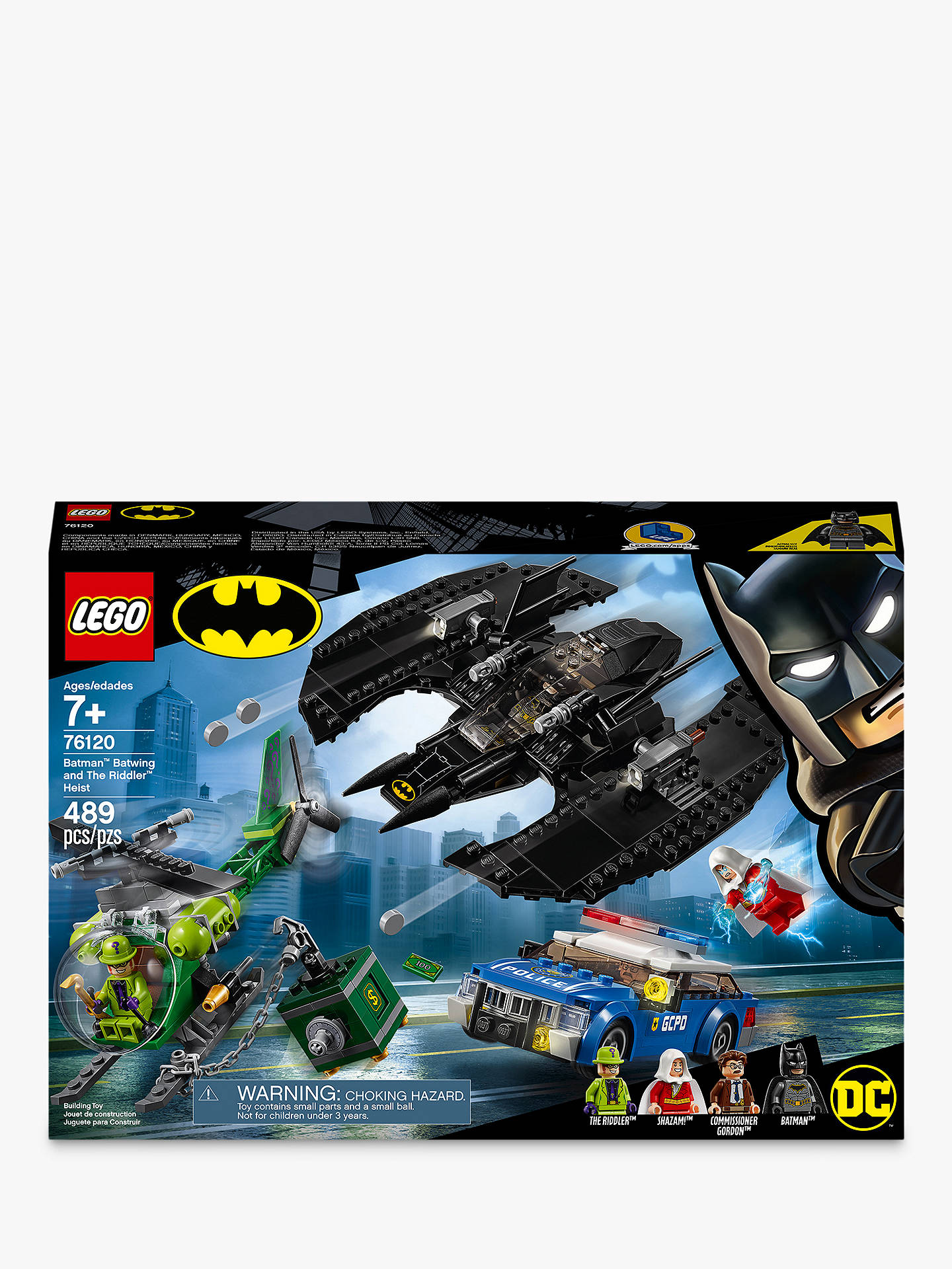 Buy LEGO DC Batman 76120 Batman Batwing and The Riddler Heist Online at johnlewis.com