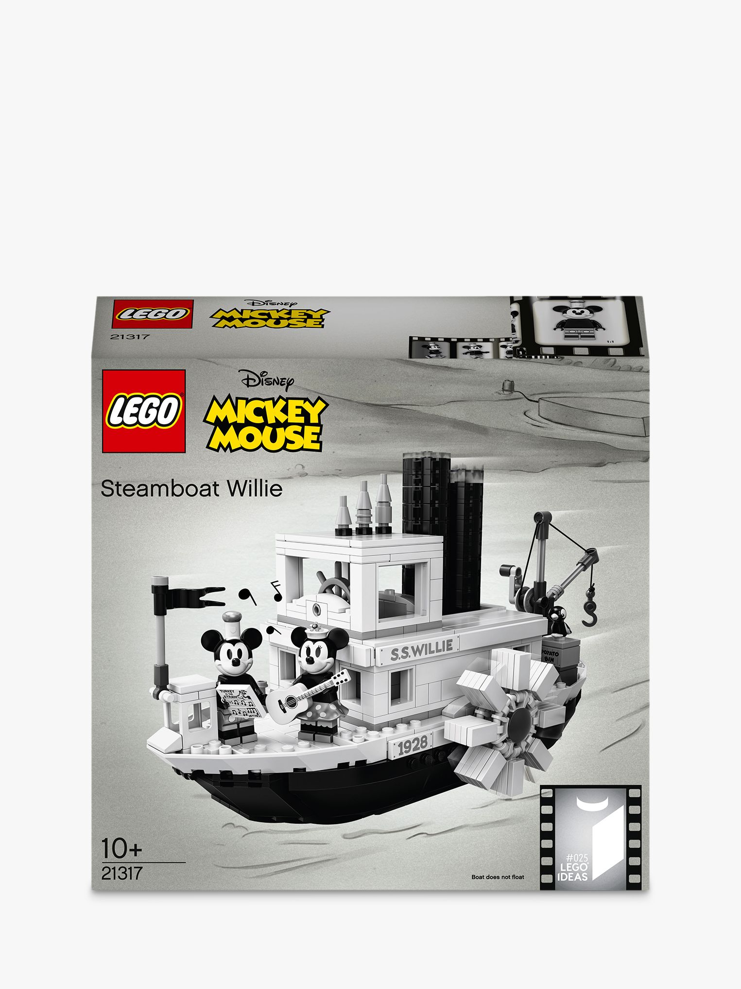 Lego LEGO Ideas 21317 Disney Mickey Mouse Steamboat Willie Vintage Collector's Model
