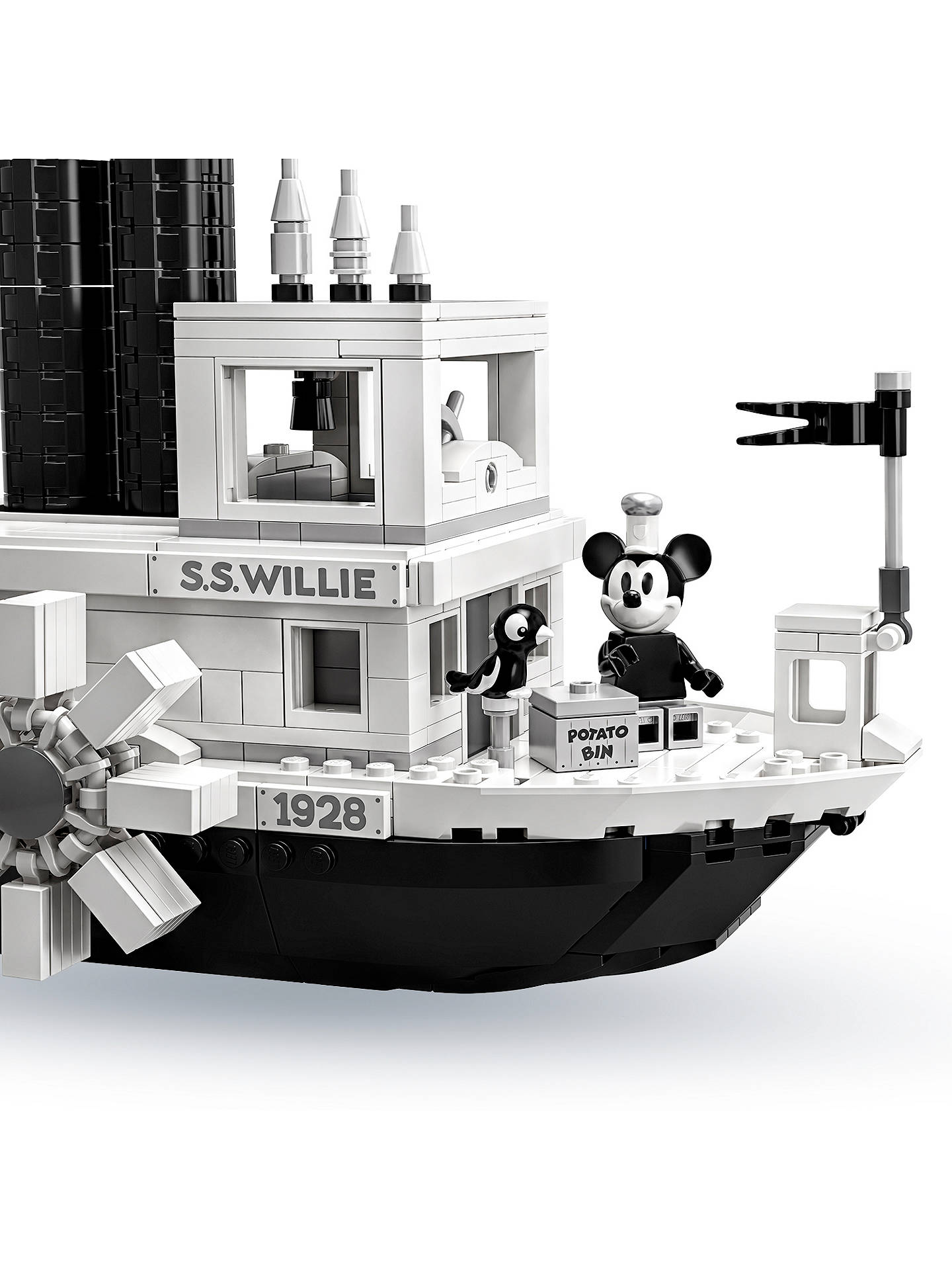 Minifigures Display Case Frame Lego Disney Steamboat Willie figures 21317 Micky