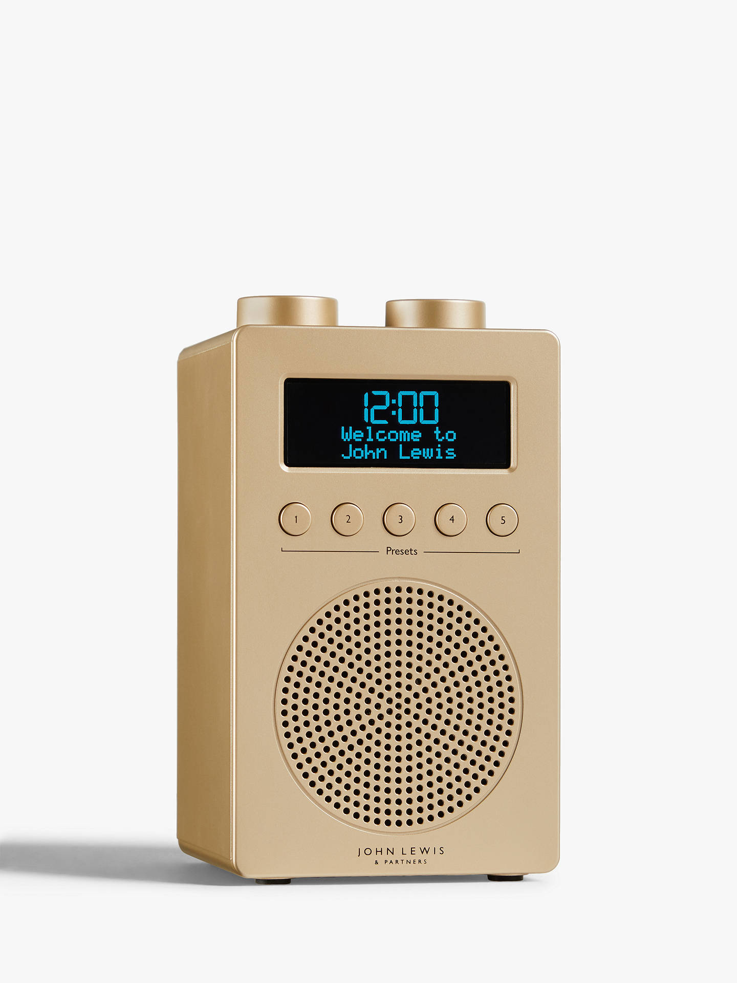 Buy John Lewis & Partners Spectrum Solo Portable DAB+/FM Digital Radio, Gold Online at johnlewis.com
