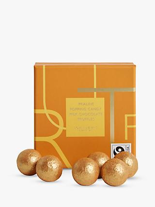 John Lewis & Partners 9 Praline Popping Candy Milk Chocolate Truffles, 90g