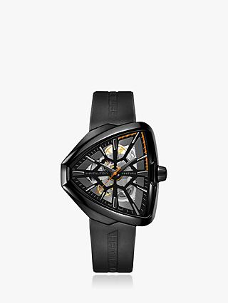 1798b3f9976b2 Hamilton H24595331 Men's Ventura Limited Edition Automatic Skeleton Rubber Strap  Watch, Black