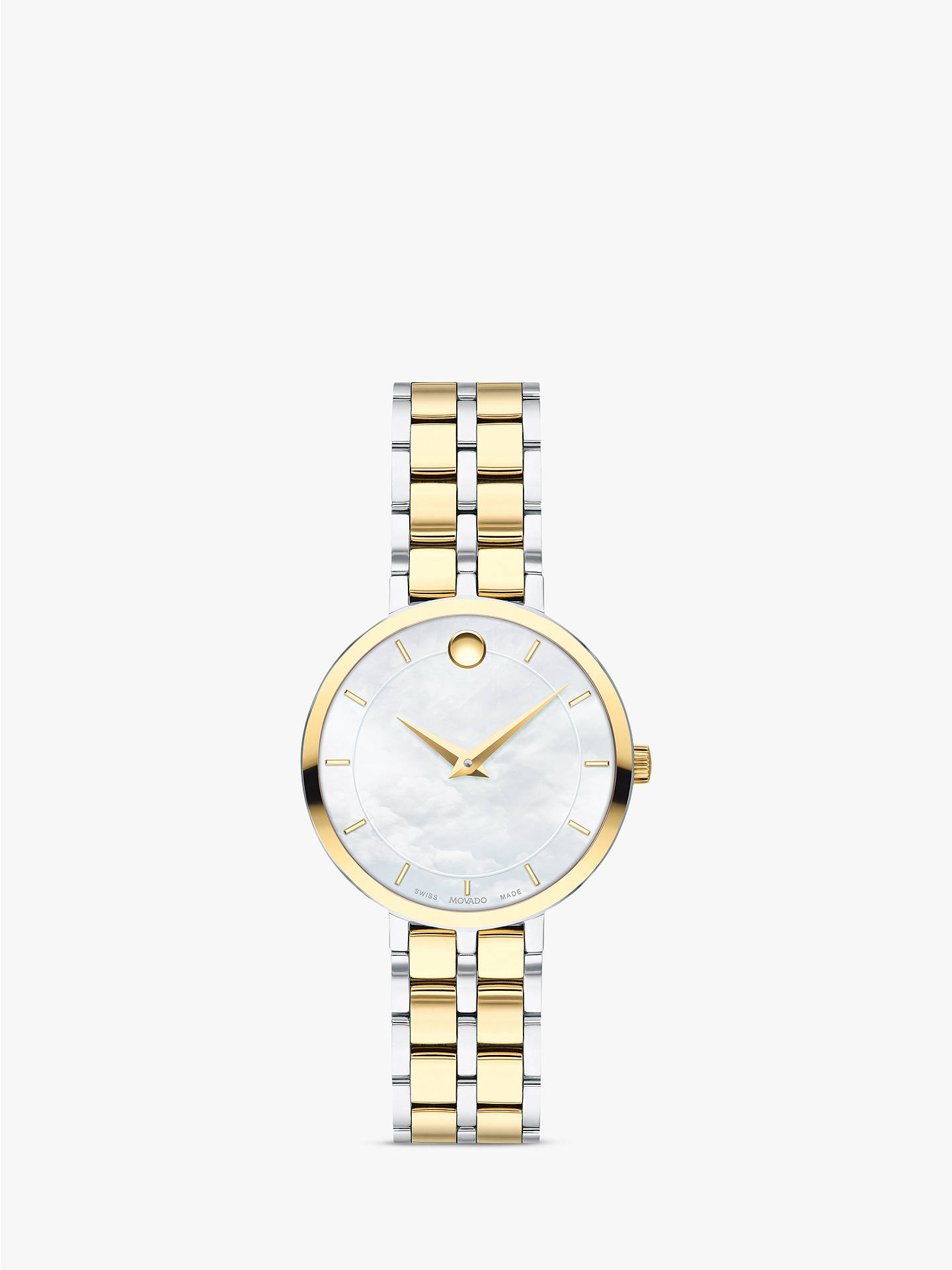 31efbe632ed08 Buy Movado 607323 Women's Kora Two Tone Bracelet Strap Watch, Silver/Gold  Online at ...