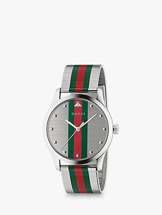 eb4bd4e93 Gucci YA126284 Men's G-Timeless Bracelet Strap Watch, Multi