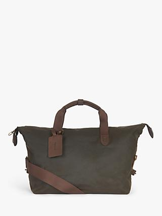 Barbour Islington Wax Cotton Holdall, Olive