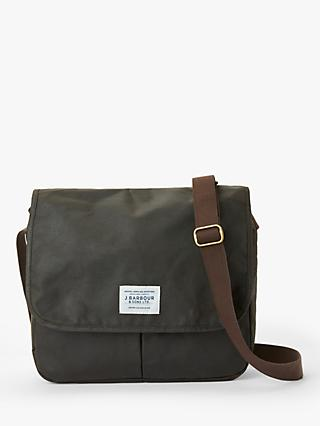 Barbour Eaden Wax Cotton Messenger, Olive