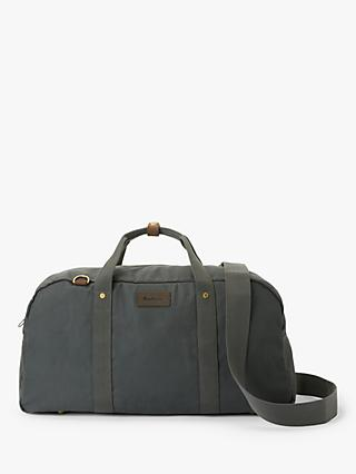 Barbour Amwell Wax Cotton Holdall, Grey