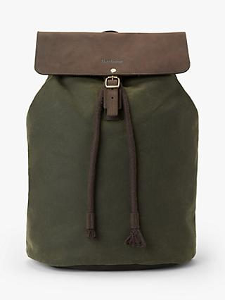 Barbour Highbury Leather Backpack, Olive