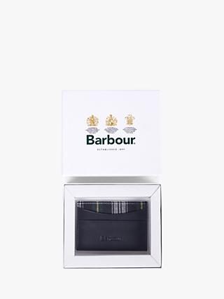 Barbour 125 Year Leather Card Holder, Navy