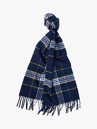 Barbour 125 Year Elwood Tartan Wool Scarf, Blue