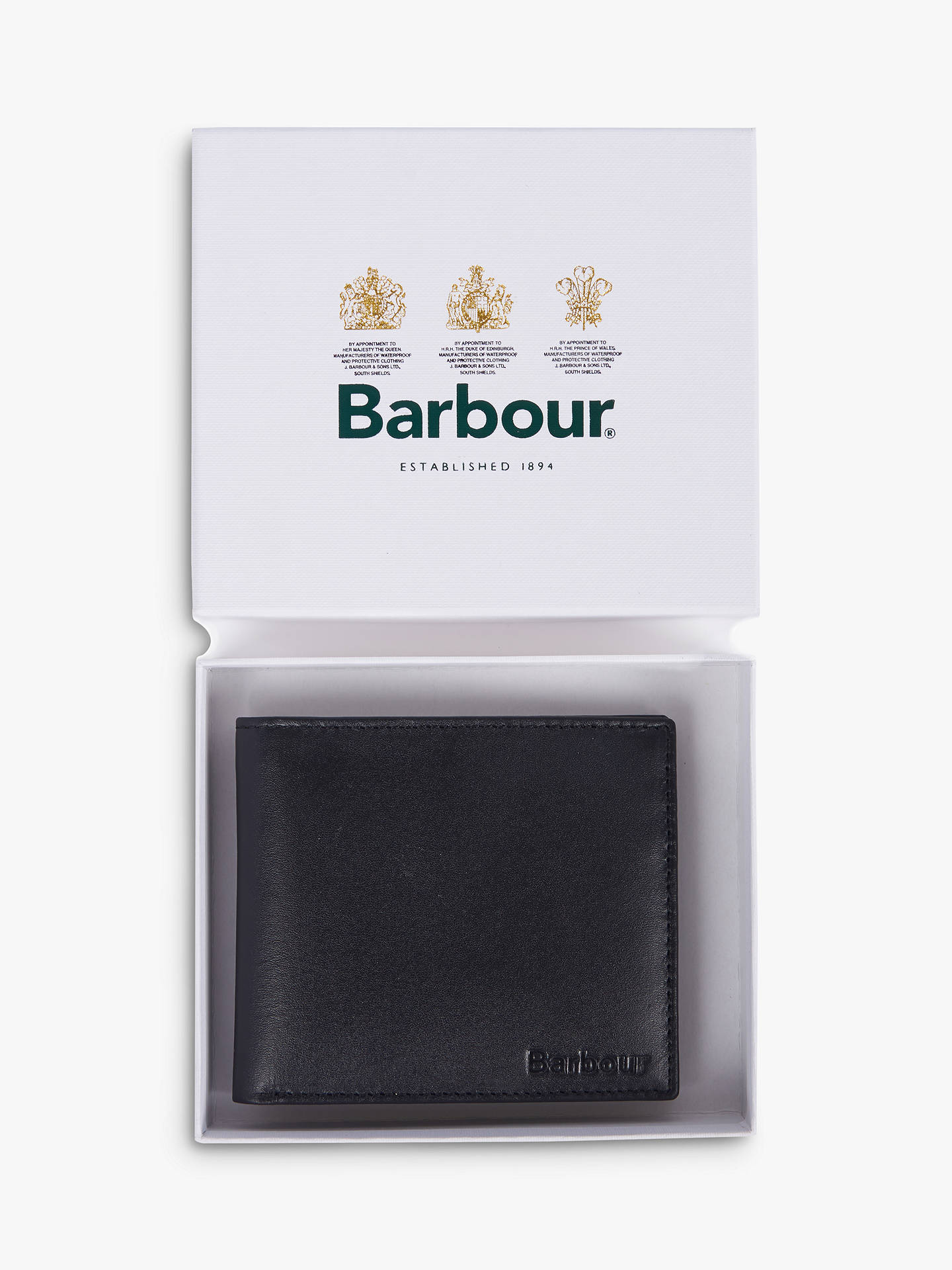 1d29b1f9 Buy Barbour High Shine Leather Wallet, Black Online at johnlewis.com ...