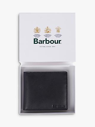 Barbour High Shine Leather Wallet, Black