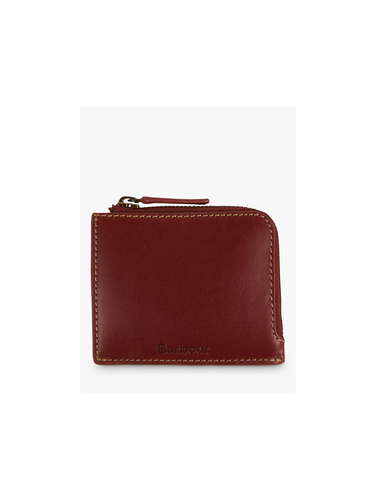 Barbour Hadleigh Leather Zip Up Coin Wallet,