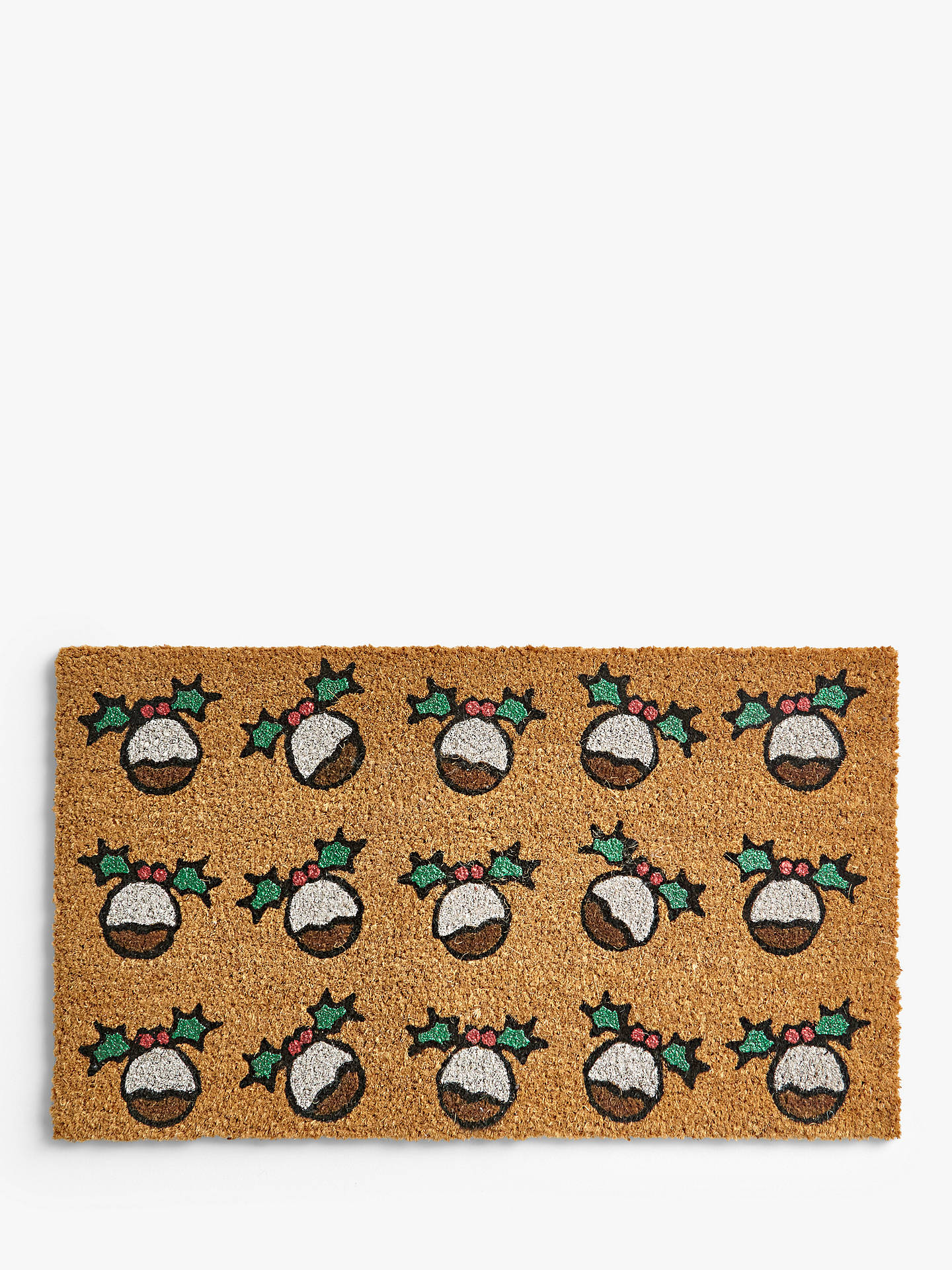 Buy John Lewis & Partners Christmas Pudding Door Mat Online at johnlewis.com