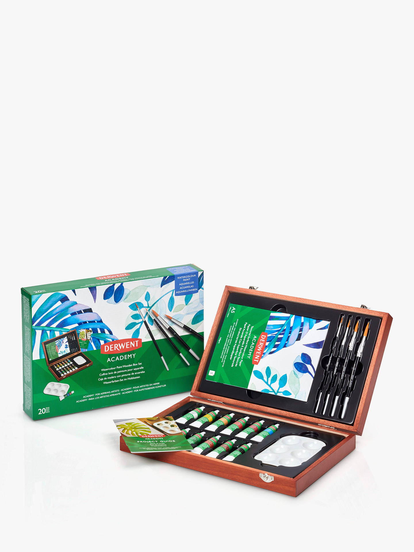Buy Derwent Academy Watercolour Wooden Box Set Online at johnlewis.com