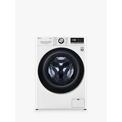 LG F4V710WTS Freestanding Washing Machine, 10kg Load, A+++ Energy Rating, 1400rpm Spin, White