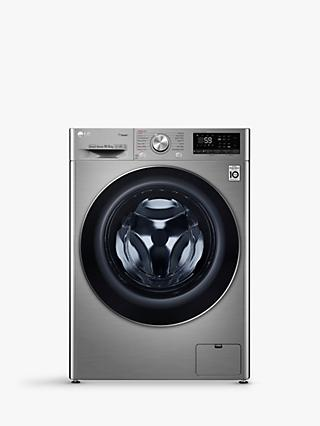 LG F4V710STS Freestanding Washing Machine, 10.5kg Load,  A+++ Energy Rating, 1400rpm Spin, Graphite