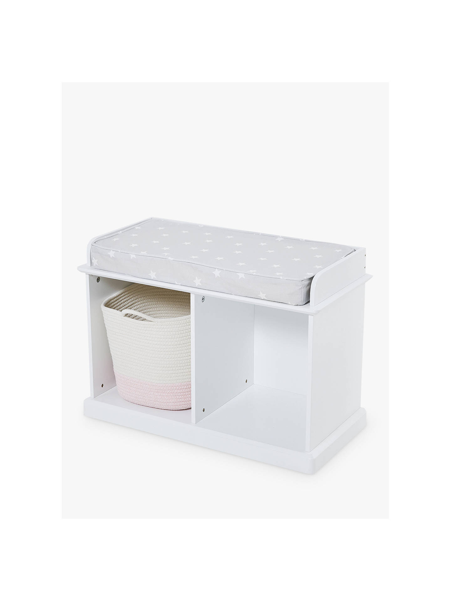 Great Little Trading Co Abbeville Small Storage Bench White
