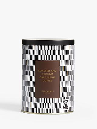 John Lewis & Partners Coffee Café Blend Tin, 205g