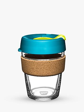 KeepCup Cork Brew Reusable 12oz Glass Coffee Cup/Travel Mug, 340ml