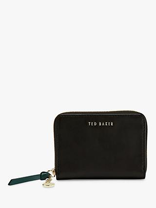 Ted Baker Harre Leather Zip Charm Purse