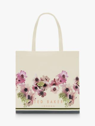 Ted Baker Ancon Neopolitan Icon Large Shopper Bag, Ivory