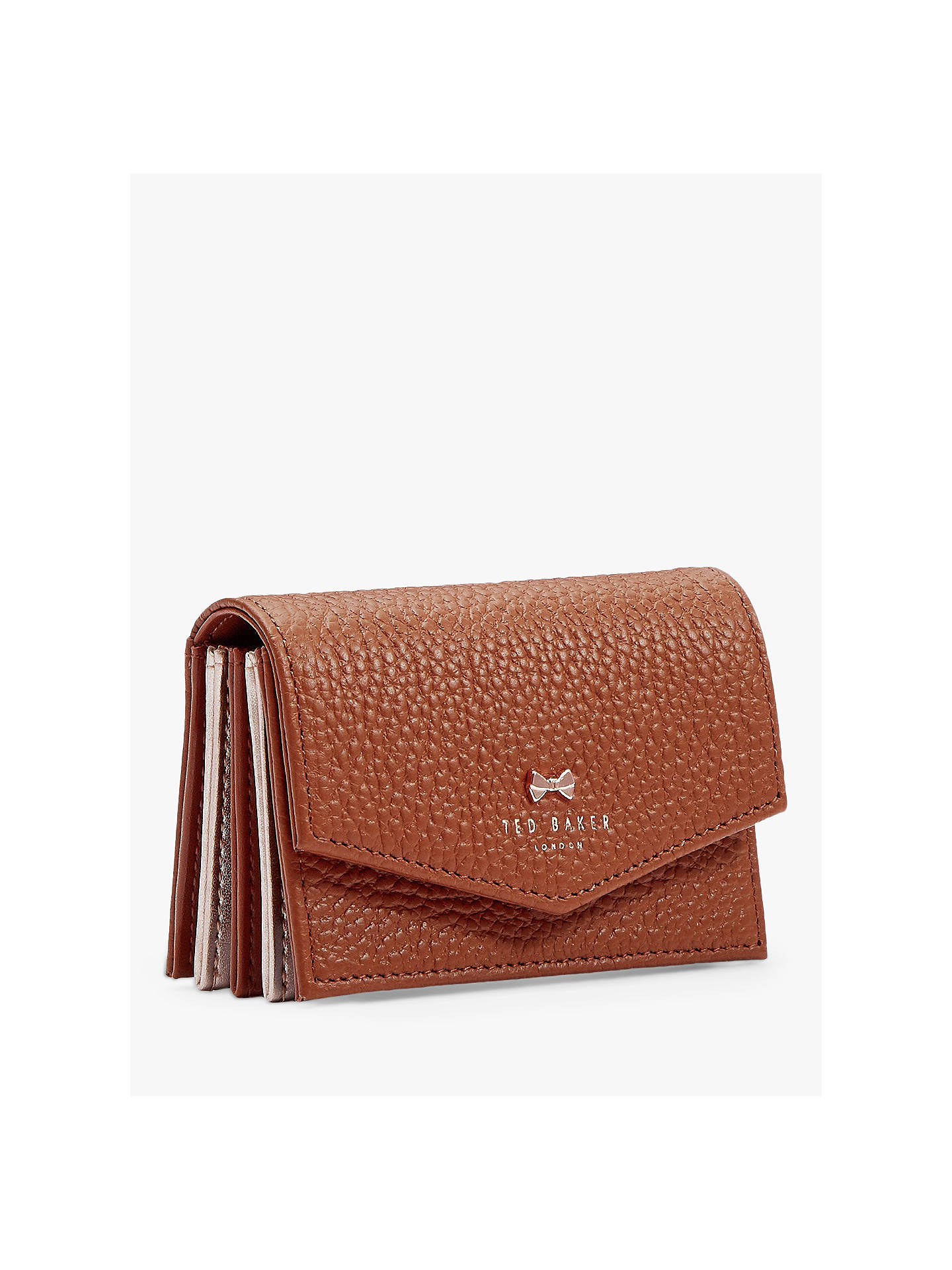 finest selection def86 4b8a1 Ted Baker Hiedi Leather Credit Card Holder, Brown
